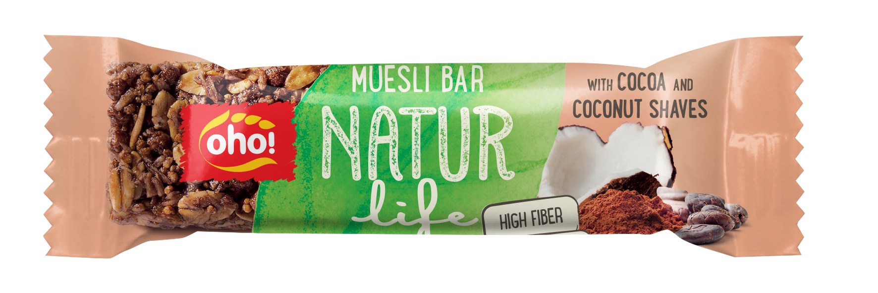 Muesli bar Natur life with cocoa and coconut shaves