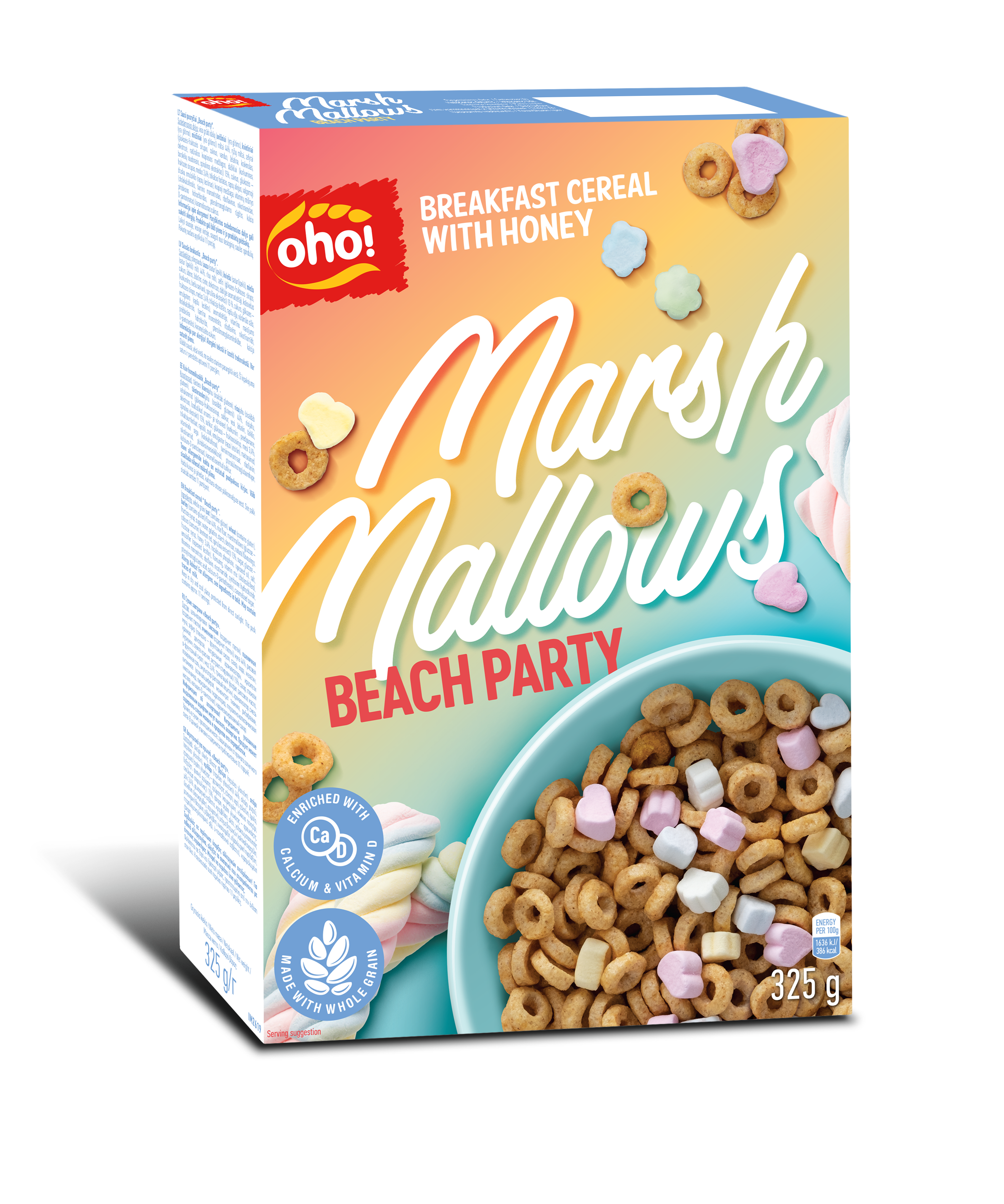 "Honey taste cereals with Marshmallows ""Beach party"""